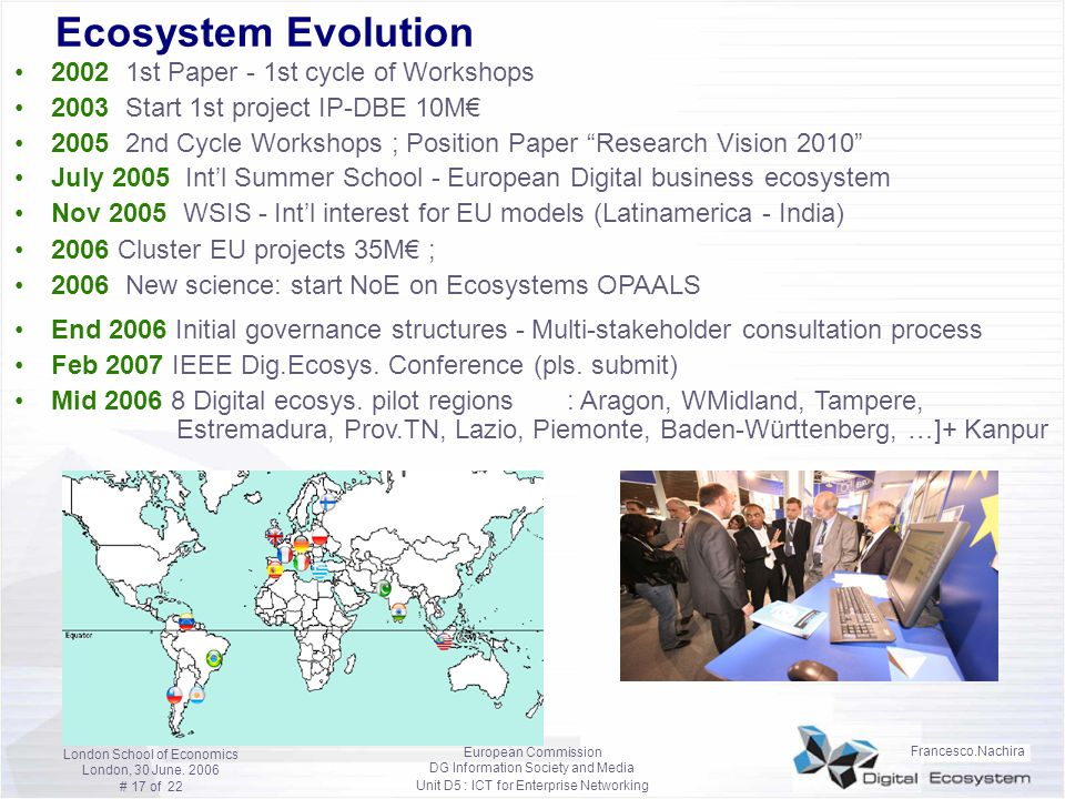 Ecosystem Evolution 2002 1st Paper - 1st cycle of Workshops