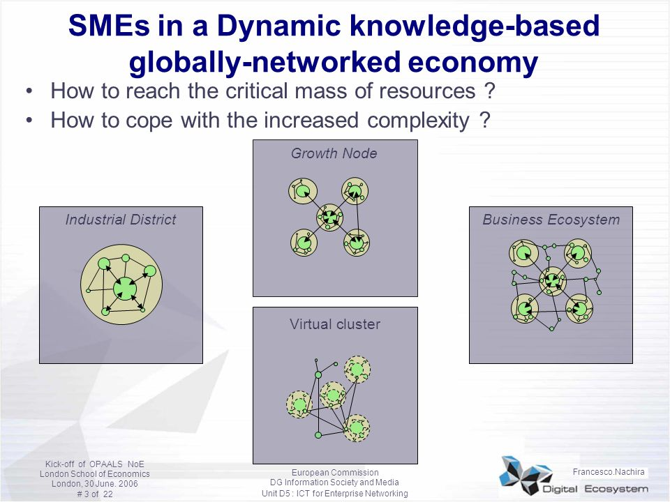SMEs in a Dynamic knowledge-based globally-networked economy
