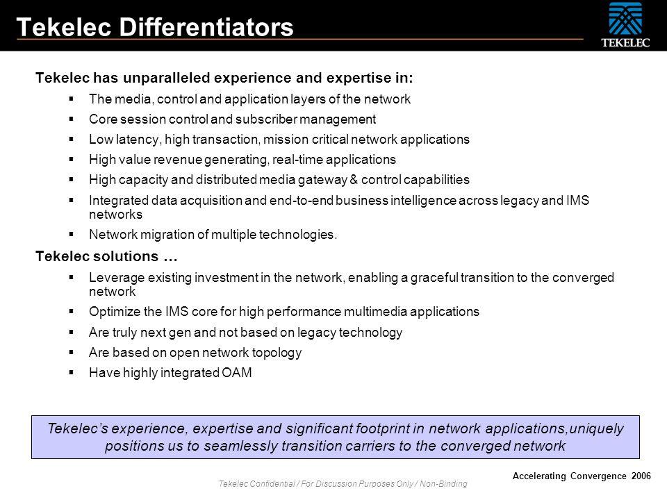 Tekelec Differentiators
