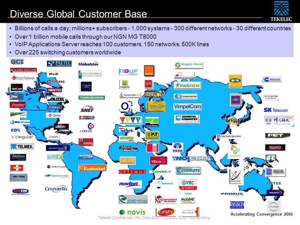 Diverse Global Customer Base