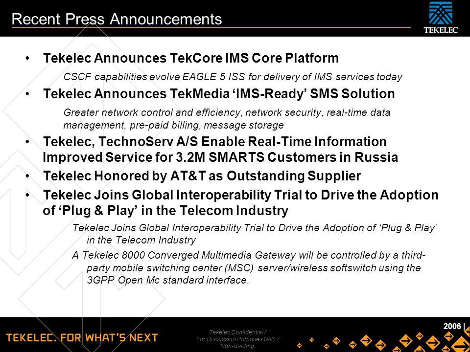 Recent Press Announcements