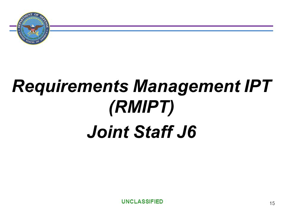 Requirements Management IPT (RMIPT)