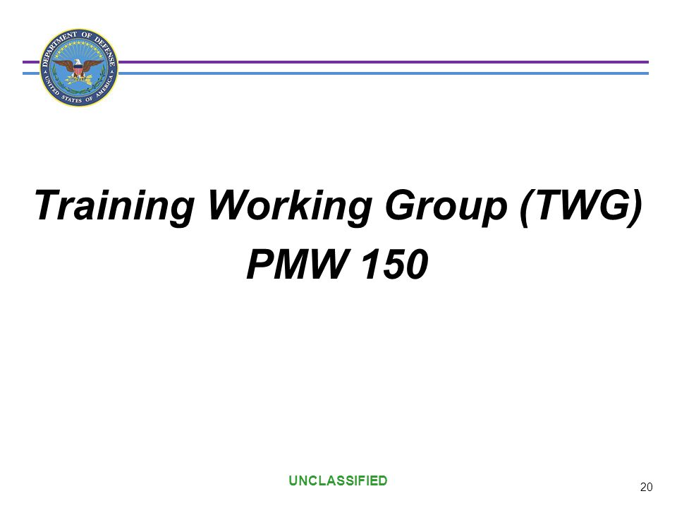 Training Working Group (TWG)