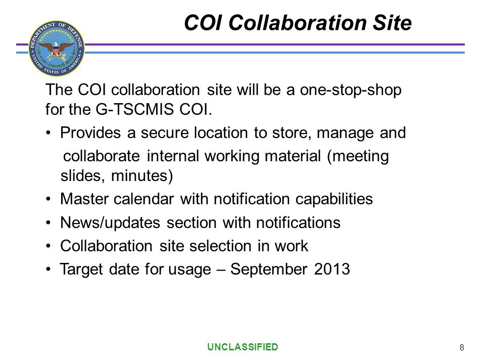 COI Collaboration Site