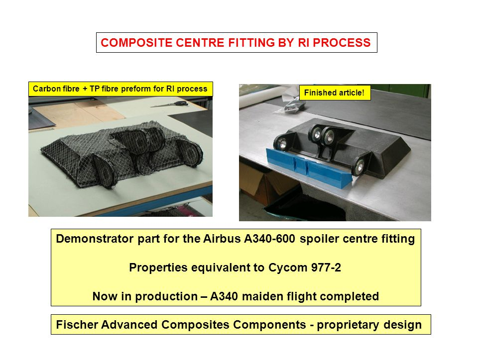 COMPOSITE CENTRE FITTING BY RI PROCESS
