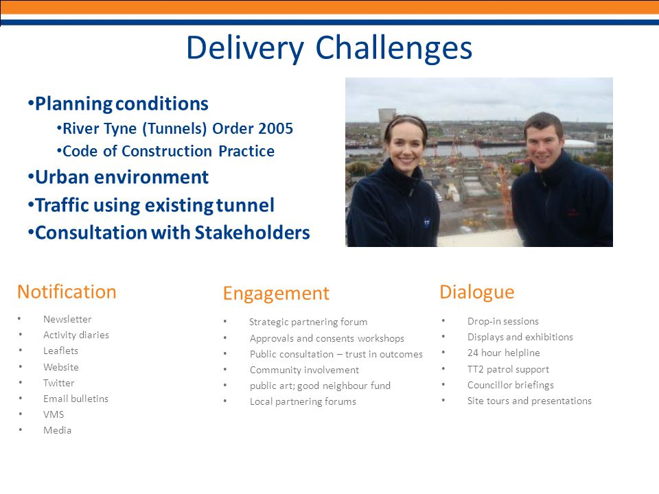 Delivery Challenges Planning conditions Urban environment