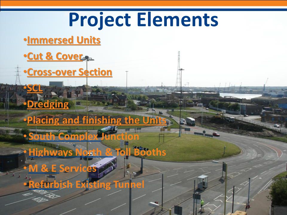 Project Elements Immersed Units Cut & Cover Cross-over Section SCL