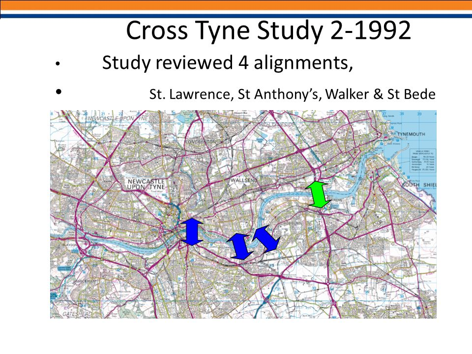 Cross Tyne Study 2-1992 St. Lawrence, St Anthony's, Walker & St Bede