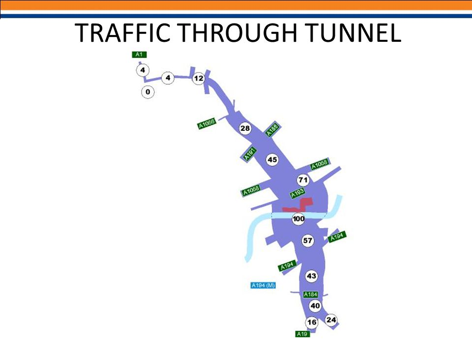 TRAFFIC THROUGH TUNNEL
