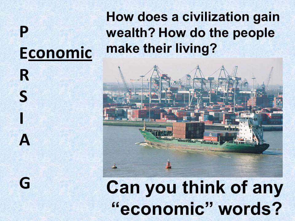 P E R conomic S I A G Can you think of any economic words