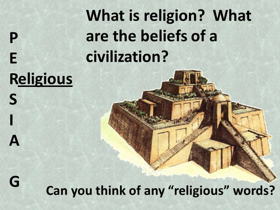 are the beliefs of a civilization P E R S I A G eligious