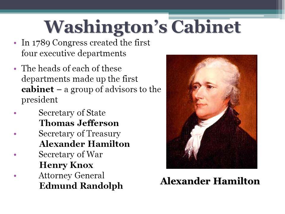 Washington's Cabinet Alexander Hamilton