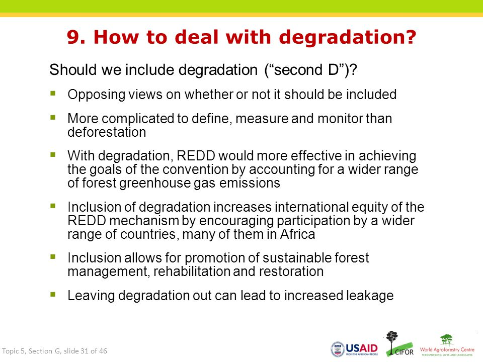 9. How to deal with degradation