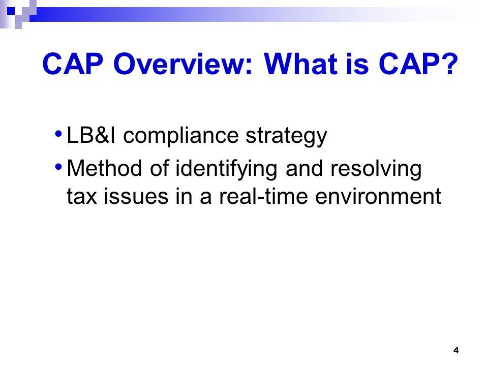 CAP Overview: What is CAP