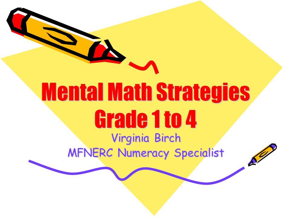 Virginia Birch MFNERC Numeracy Specialist