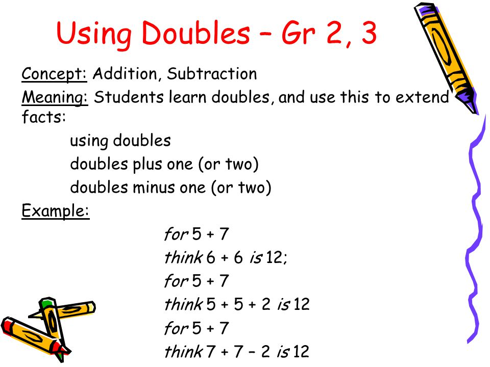 Using Doubles – Gr 2, 3