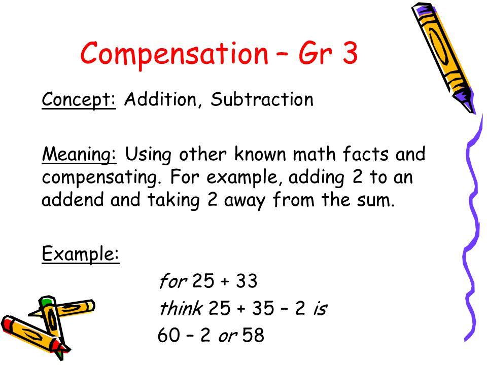 Compensation – Gr 3