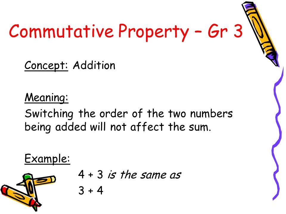 Commutative Property – Gr 3