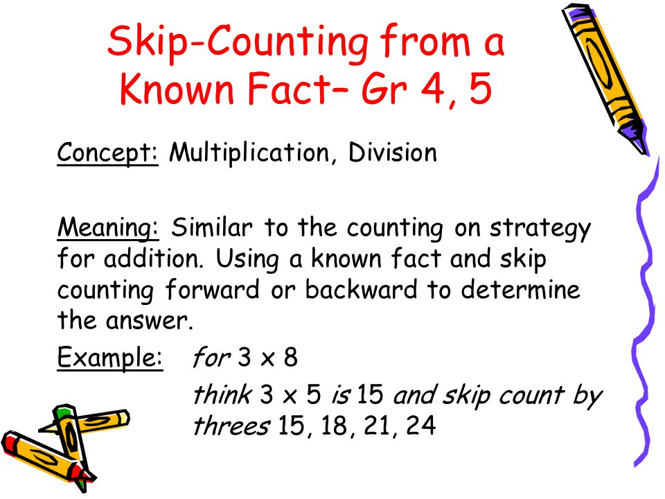 Skip-Counting from a Known Fact– Gr 4, 5