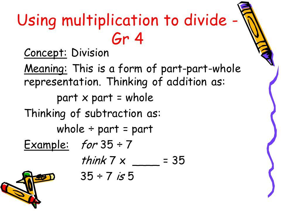 Using multiplication to divide - Gr 4