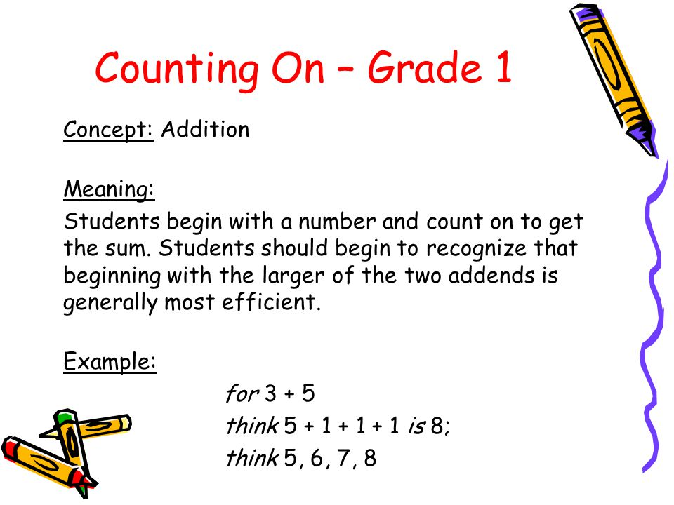 Counting On – Grade 1