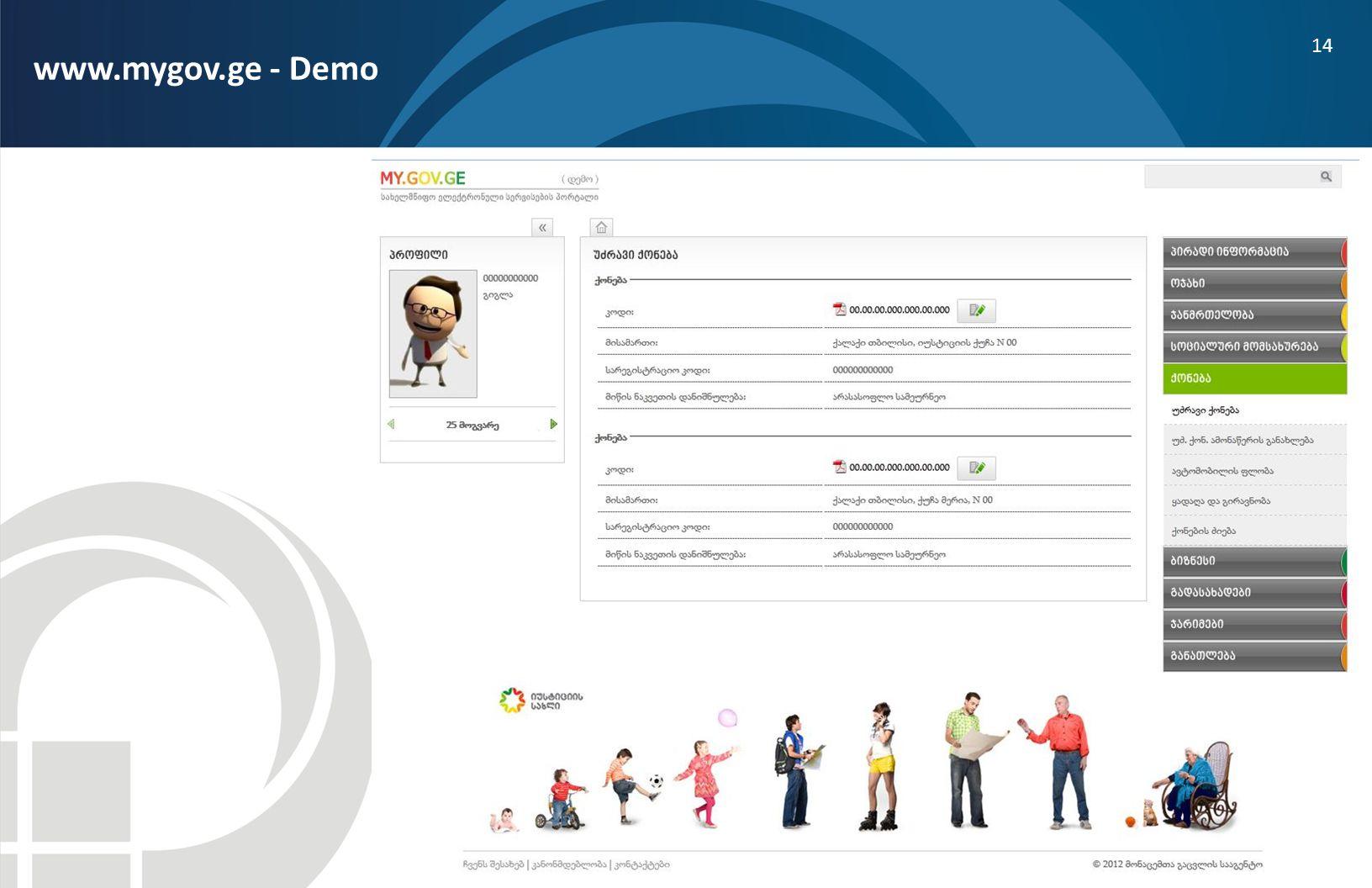 www.mygov.ge - Demo