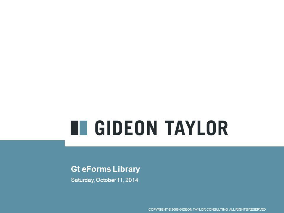 Gt eForms Library Thursday, April 06, 2017