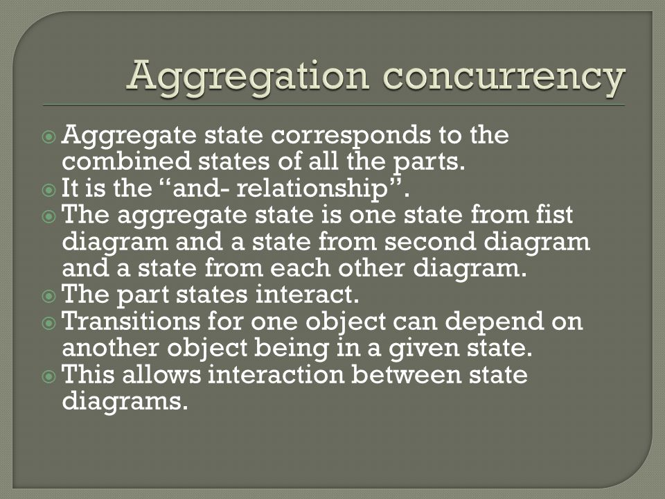 Aggregation concurrency
