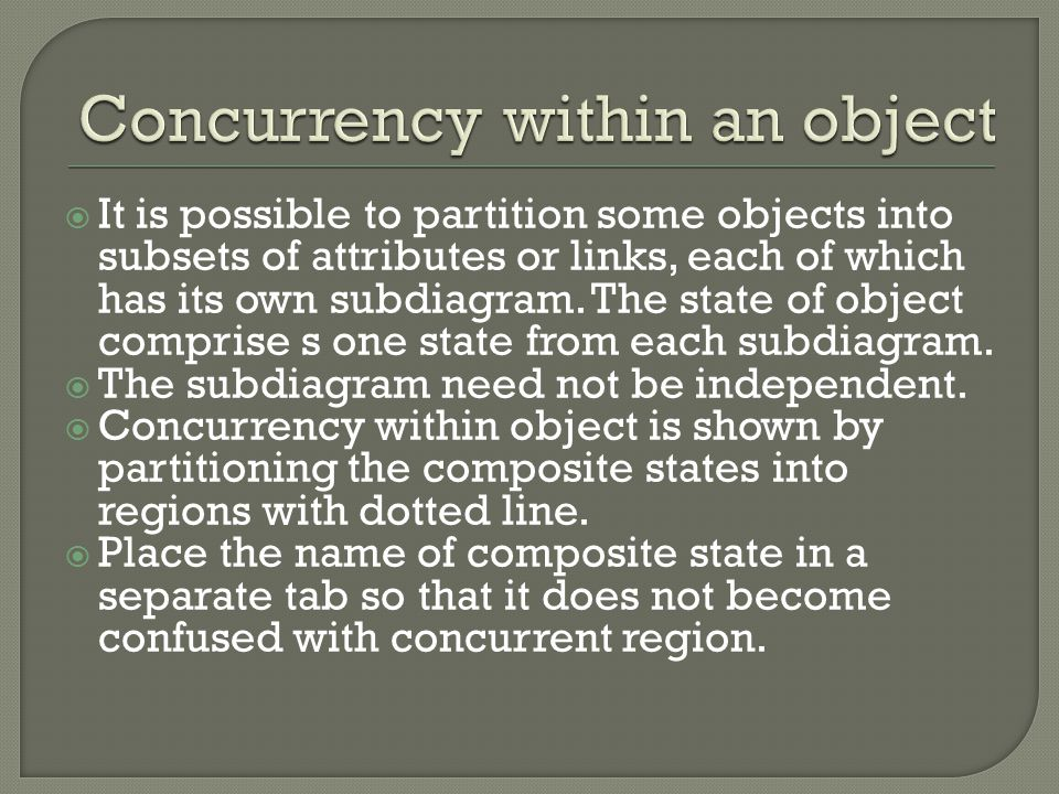 Concurrency within an object