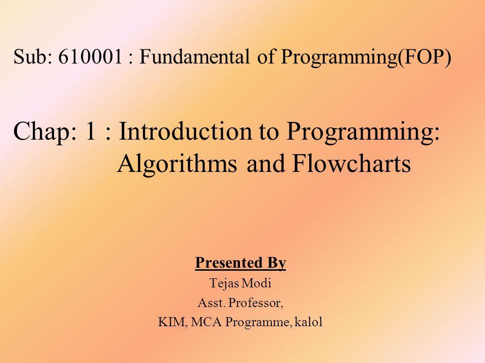 KIM, MCA Programme, kalol