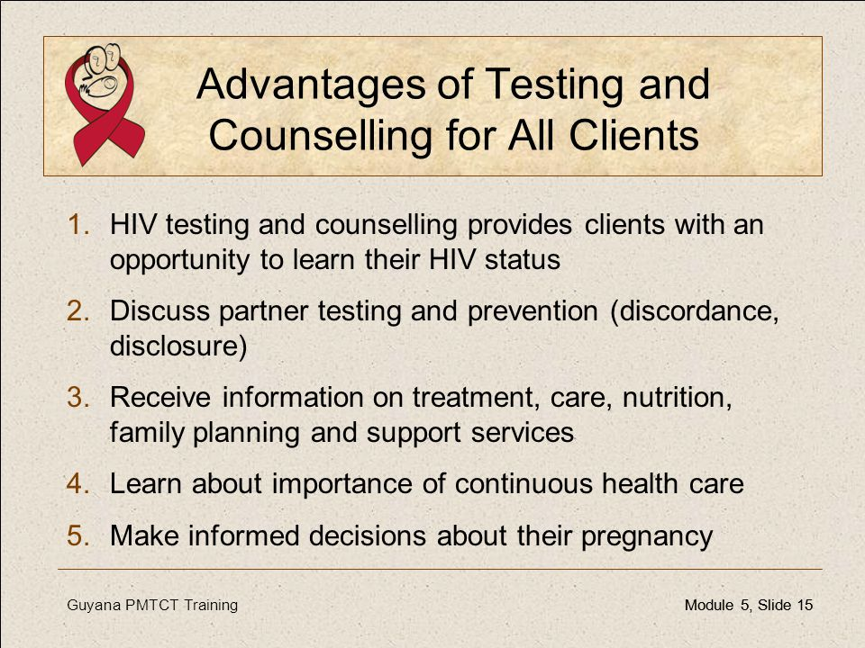 Advantages of Testing and Counselling for All Clients