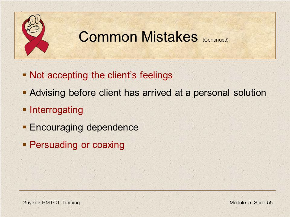 Common Mistakes (Continued)