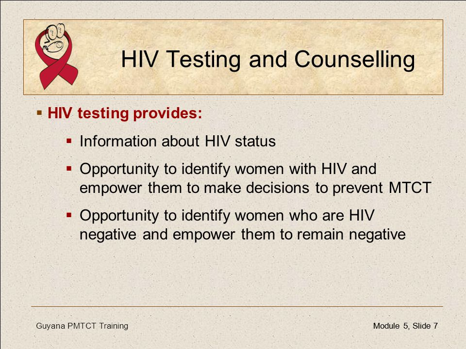 HIV Testing and Counselling