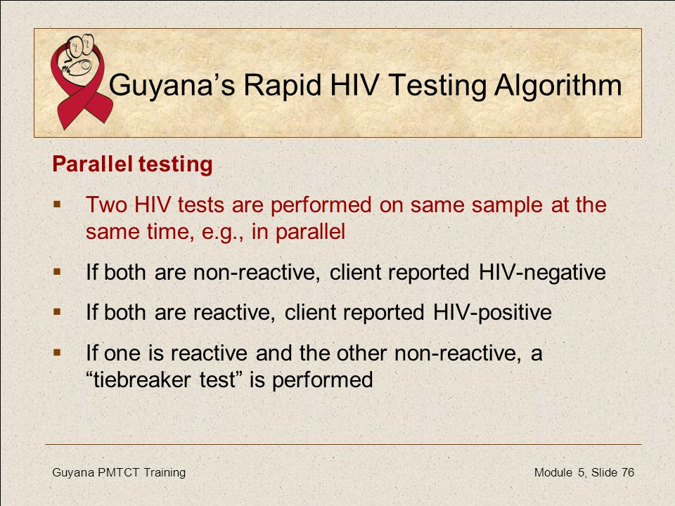 Guyana's Rapid HIV Testing Algorithm