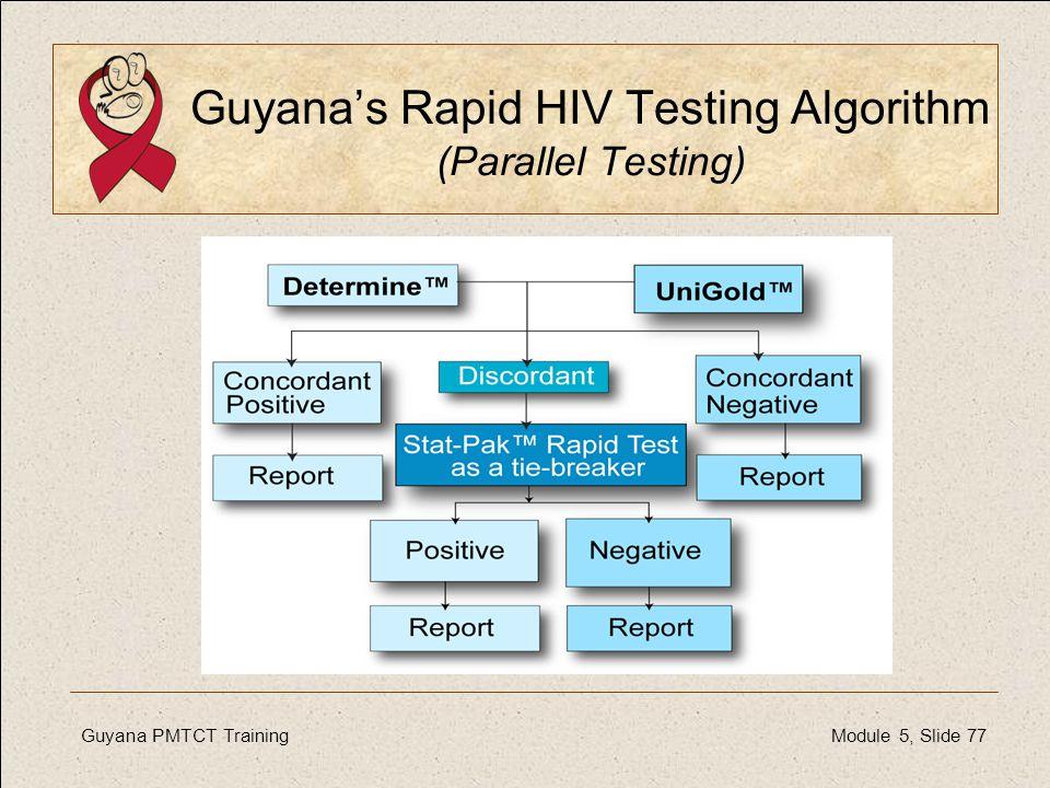Guyana's Rapid HIV Testing Algorithm (Parallel Testing)