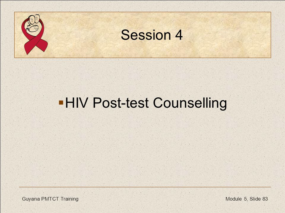HIV Post-test Counselling
