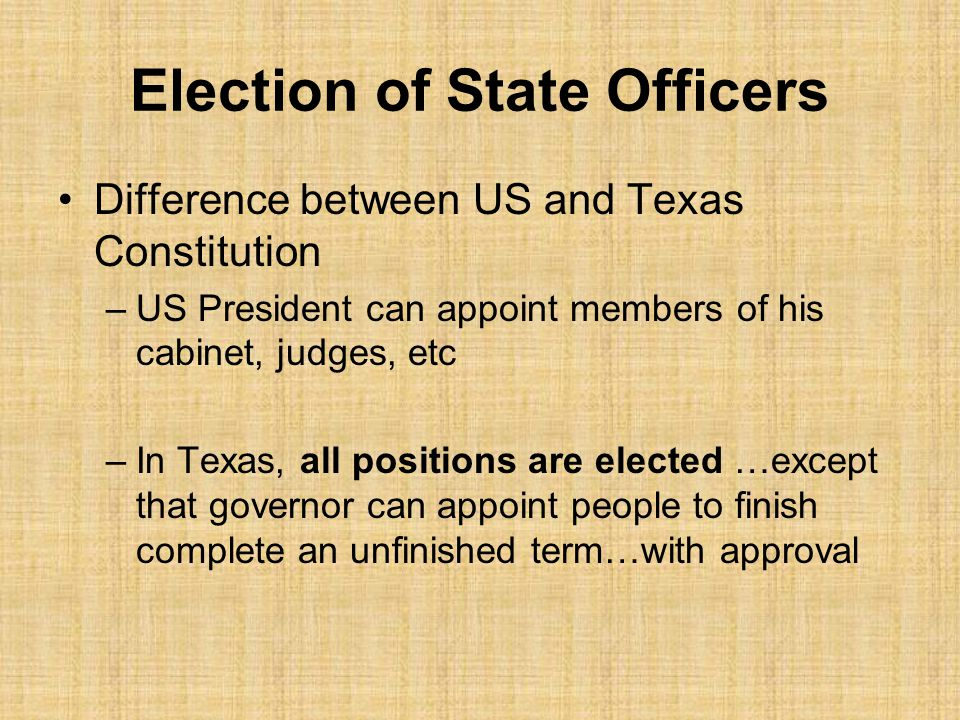 Election of State Officers