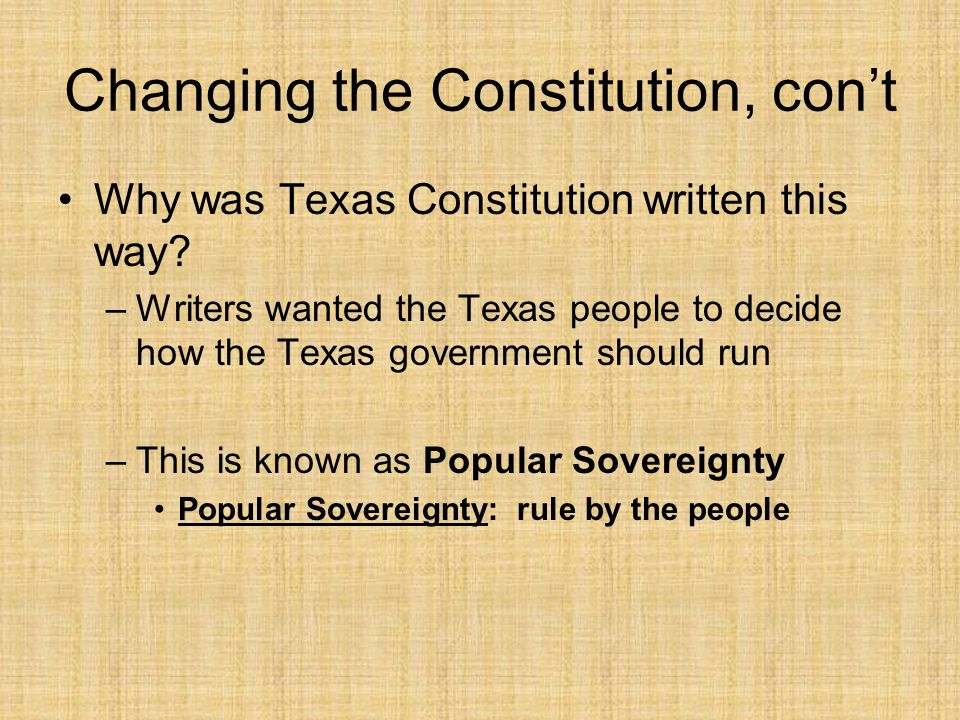 Changing the Constitution, con't