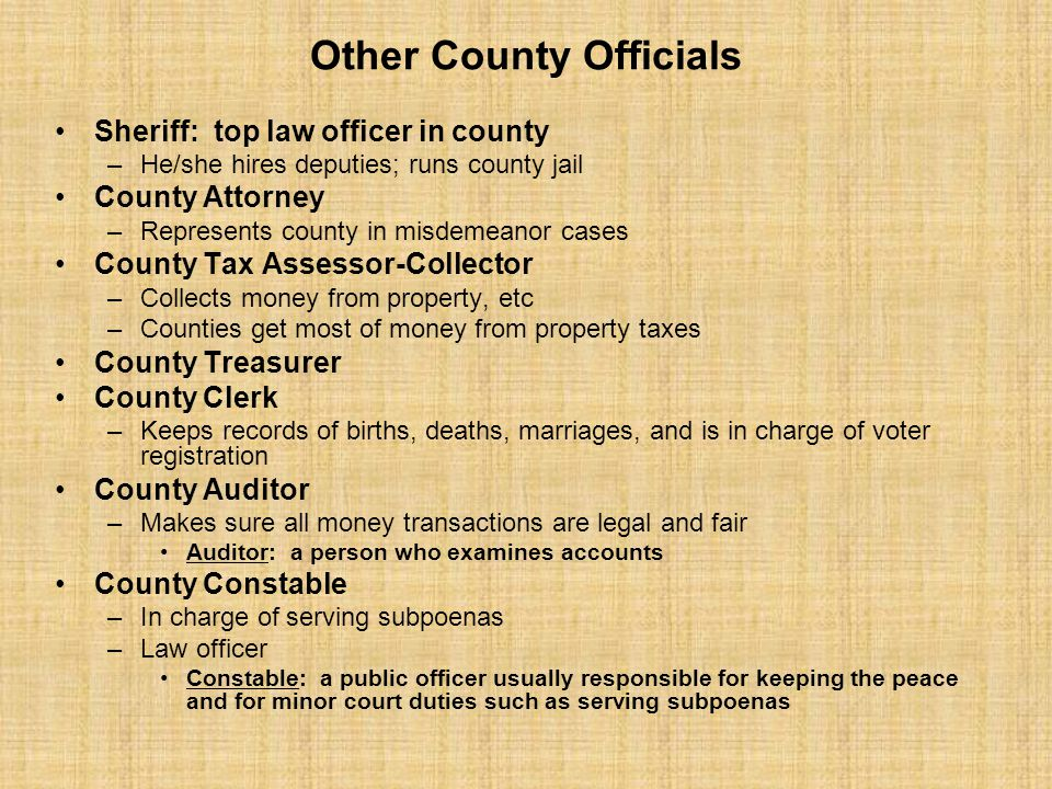 Other County Officials