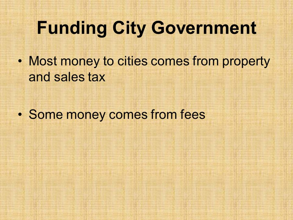 Funding City Government