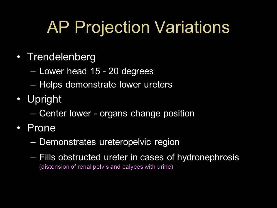 AP Projection Variations