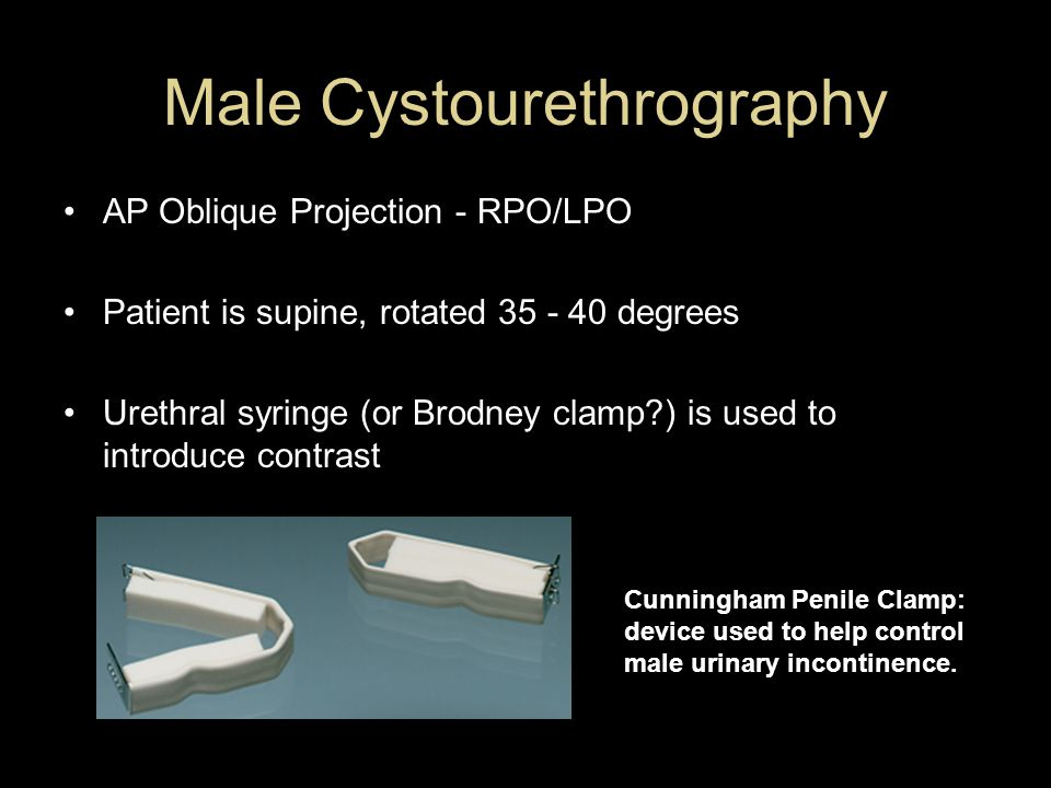 Male Cystourethrography