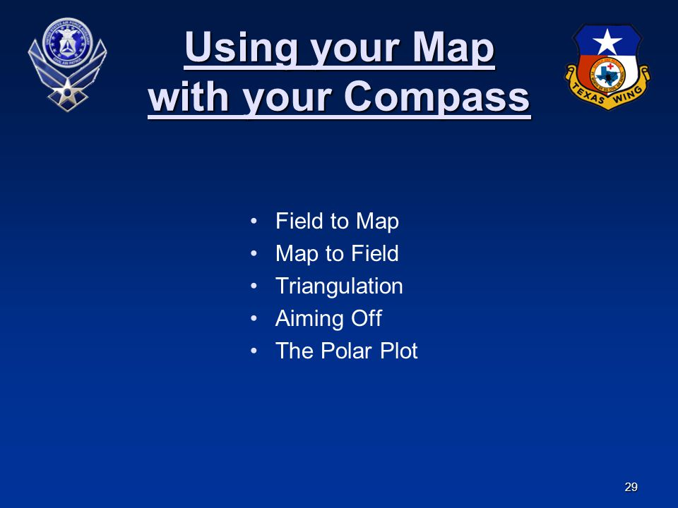 Using your Map with your Compass