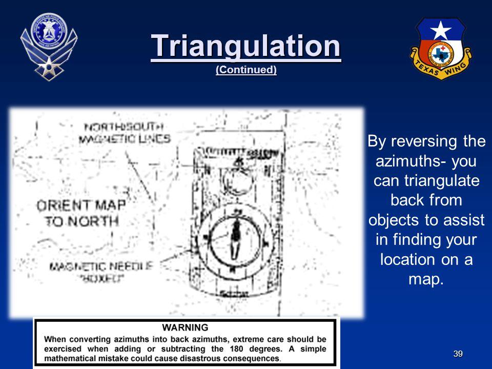 Triangulation (Continued)