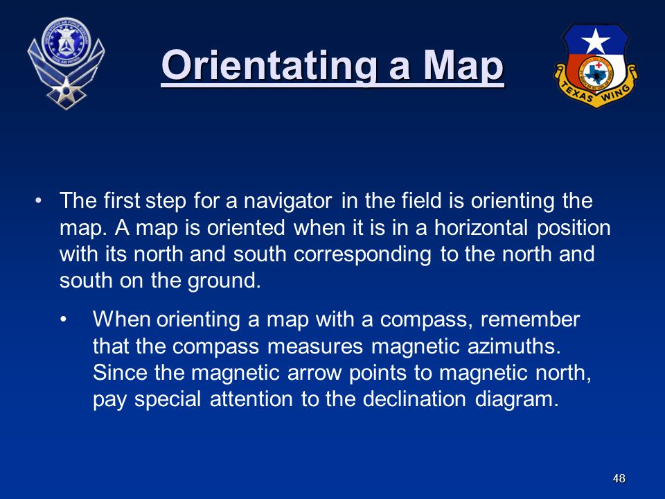 Orientating a Map