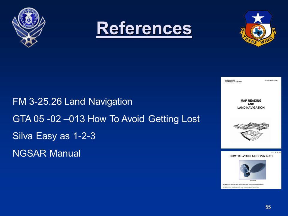 References FM 3-25.26 Land Navigation