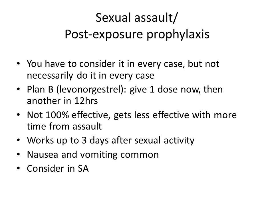Sexual assault/ Post-exposure prophylaxis