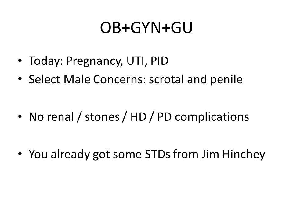 OB+GYN+GU Today: Pregnancy, UTI, PID