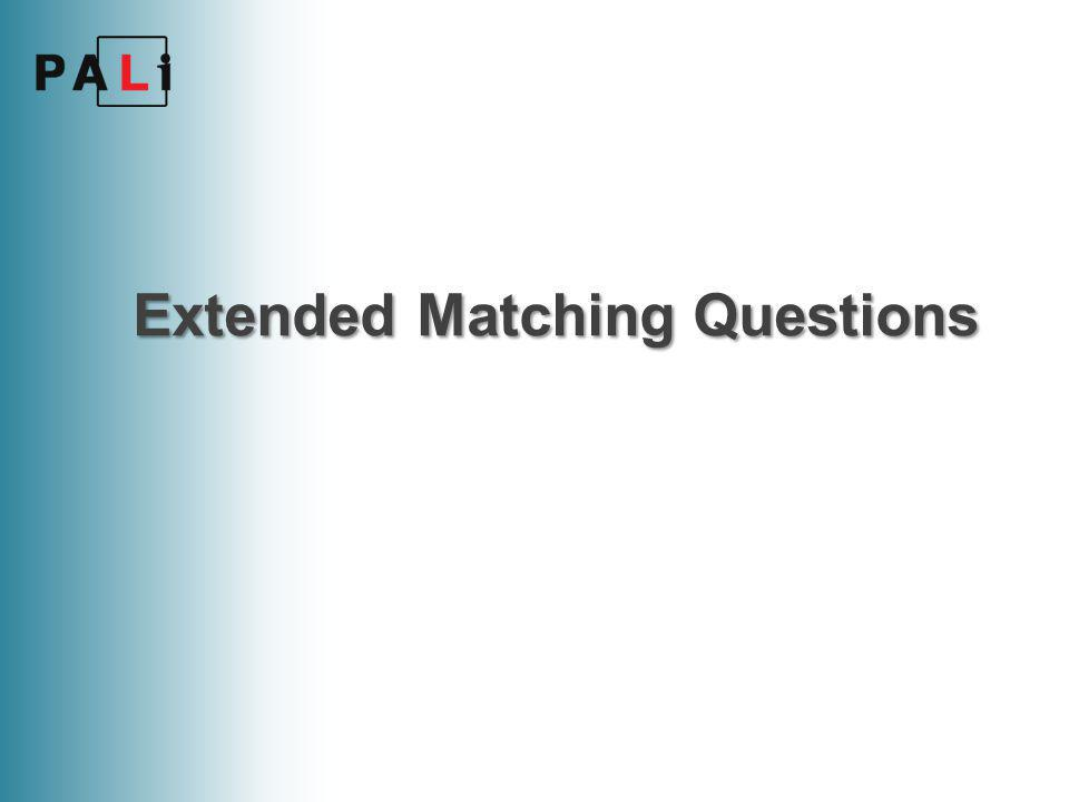 Extended Matching Questions