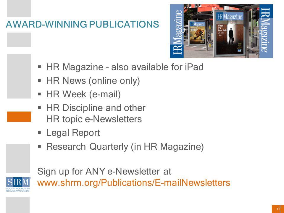 AWARD-WINNING PUBLICATIONS